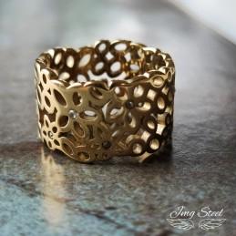 Gruby ażurowy pierścionek