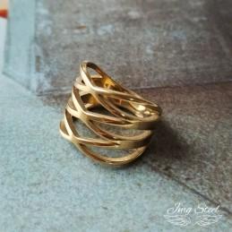 Przeplatany pierścionek