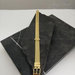 Złota bransoletka na charmsy