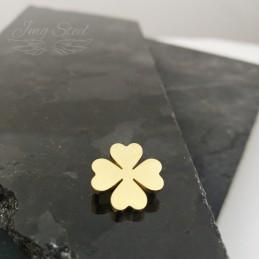Charms do bransoletki złota koniczynka