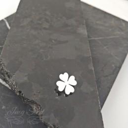 Charms do bransoletki srebrna koniczynka