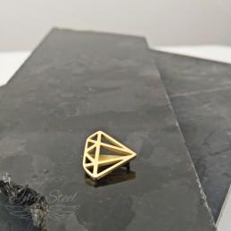 Charms do bransoletki złoty diament