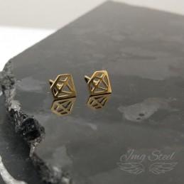 Kolczyki diamenty