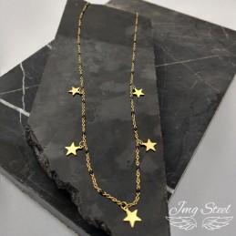 Naszyjnik z gwiazdkami z czarnymi koralikami