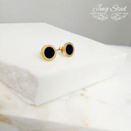 Kolczyki z akrylowym oczkiem