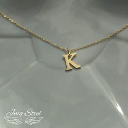 Naszyjnik z literką K