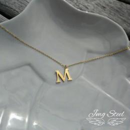 Naszyjnik z literką M